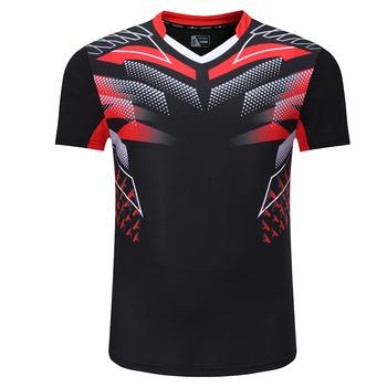 2020 nowa koszulka do badmintona sportowa koszulka do gry w tenisa kobiety mężczyźni Qucik dry bieganie koszulki odzież sportowa koszulka do gry w tenisa stołowego s tanie i dobre opinie HAMEK Poliester Krótki 3898 Anty-pilling Anti-shrink Przeciwzmarszczkowy Oddychająca Szybkie suche Koszule Pasuje prawda na wymiar weź swój normalny rozmiar