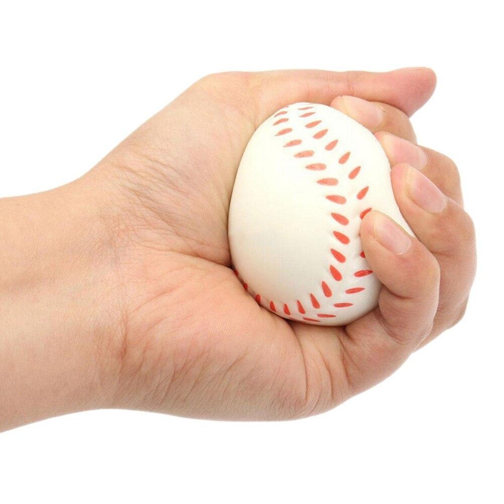 Kawaii Squishy Baseball Style Stress Relief Ball Baseball Hand Wrist Squeeze Soft Foam Ball Gifts