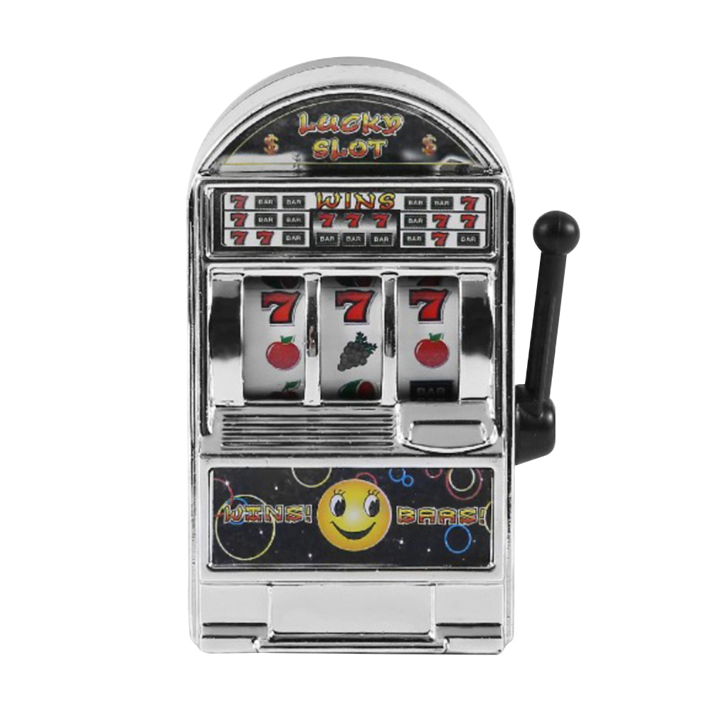 Fashion Funny Game Decompression Slot Machine Playing Mini Fruit Handheld Non-toxic Desktop Money Box Kids Toy Entertaining
