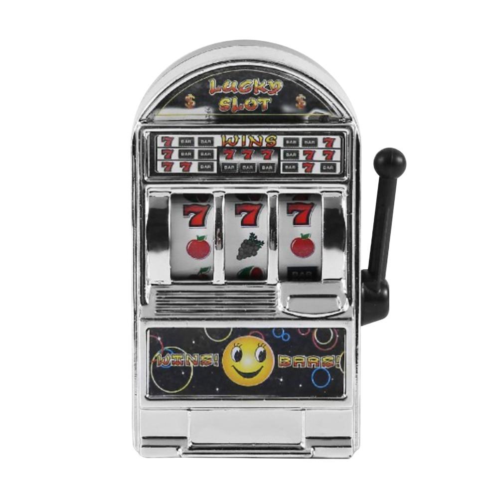 Fashion Funny Game Decompression Slot Machine Playing Mini Fruit Handheld Non-toxic Desktop Money Box Kids Toy Entertaining
