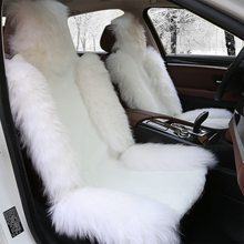 Car-Seat-Cover Cushion White Wool-Seat Warm Front Winter Fur 1 1-Pc Natural High-Quality