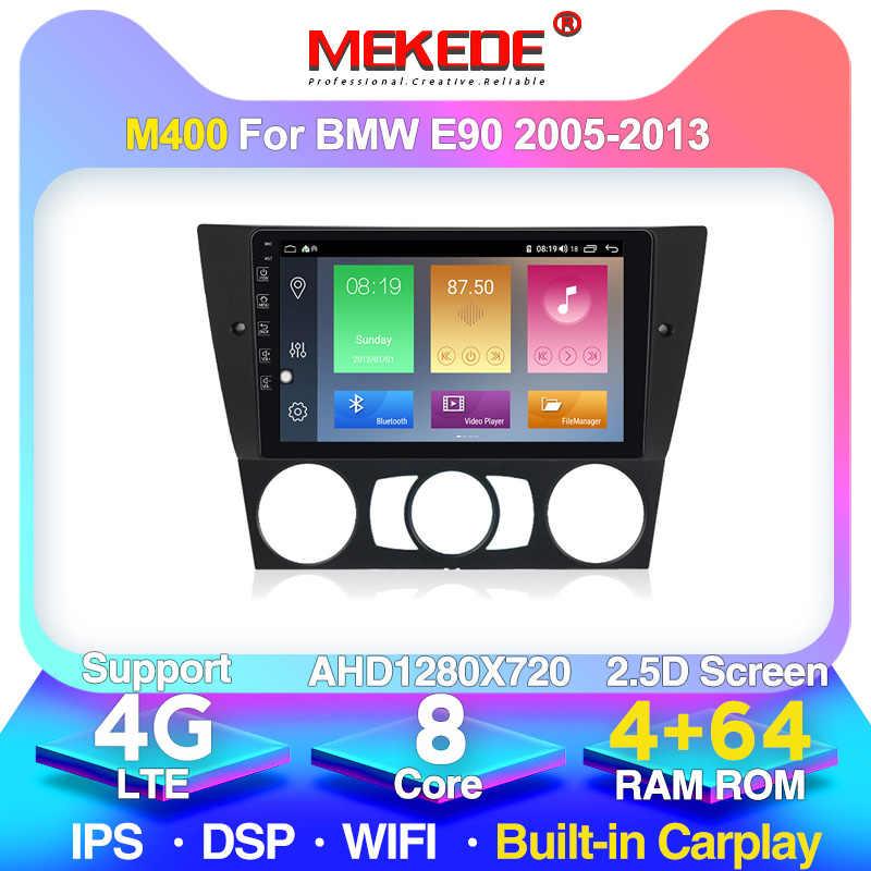 "Mekede 9 ""2.5D ipsスクリーン車のdvdプレーヤーgpsナビゲーションE90 E91 E92 E93 自動アンドロイド 10.0 4 + 64 グラムwifi bt 4 4g lte"