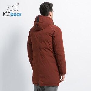 Image 4 - ICEbear 2019 yeni yüksek kalite kış ceket basit rahat ceket tasarım erkekler sıcak kapşonlu marka moda parkas ceketler MWD18718D
