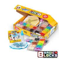 1200 contas de gotas de água grânulo brinquedo acessório kit partículas magia pixel blocos diy artesanal montado feitiço plug presente para crianças