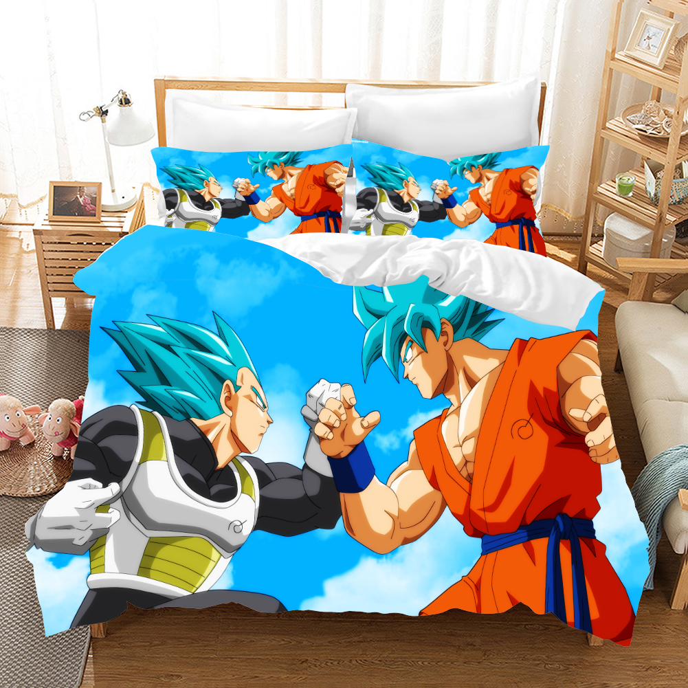 Dragon Ball Z 3d Bedding Set Duvet Covers Pillowcases Anime Super Saiyan Children Room Decor Comforter Bedding Sets Bed Linen
