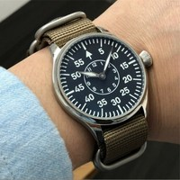 44mm B Uhr pilot ETA6497 Men Mechanical Watches Seagull ST3621 Movement Super Luminous Hand Parnis Men's Military Wristwatch