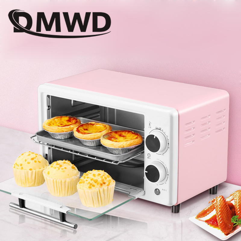 DMWD 10L Mini Intelligent Electric Oven Multi-function Automatic Timing Baking Cake Bread Pizza Baking Machine Toaster EU US
