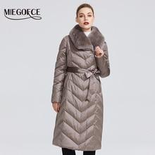 MIEGOFCE 2020 New Collection 여성 자켓 토끼 칼라 여성 겨울 코트 비정상적인 색상 방풍 겨울 파카