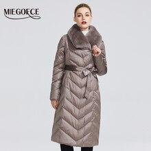 MIEGOFCE 2020 חדש אוסף נשים של מעיל עם ארנב צווארון נשים חורף מעיל צבעים יוצא דופן כי Windproof חורף Parka