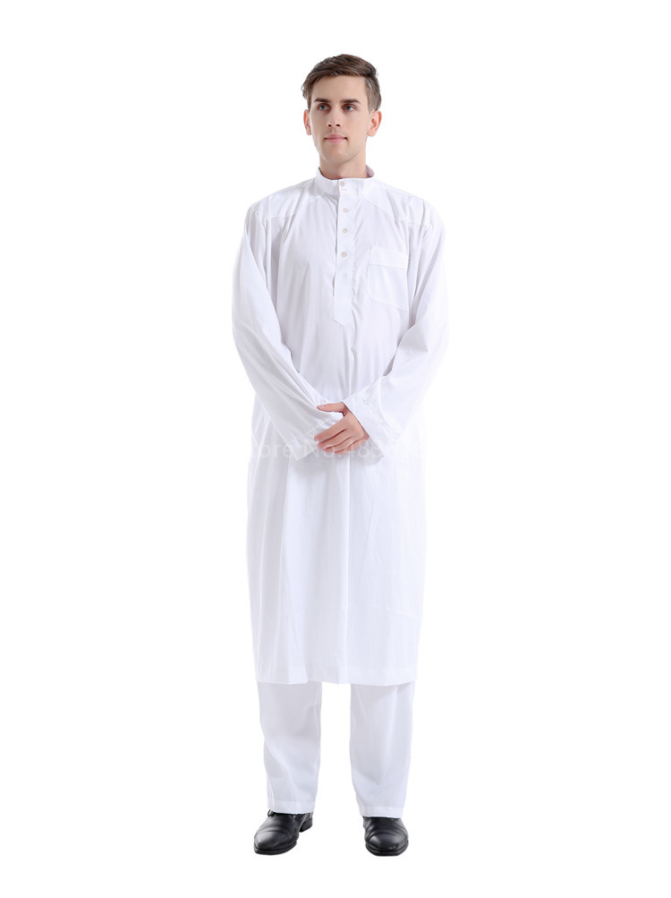 Haa51550742bc4ec9876dcb10a7bb1de3x - Islamic Clothing Men Muslim Robe Arab Thobe Ramadan Costumes Solid Arabic Pakistan Saudi Arabia Abaya Male Full Sleeve National