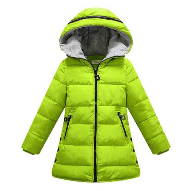 Bahar sonbahar kış ceket kızlar için giysi pamuk yastıklı kapşonlu çocuklar ceket çocuk giyim kız Parkas Enfant ceket ve mont