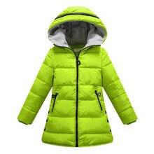 Primavera outono inverno jaqueta para meninas roupas de algodão acolchoado com capuz crianças casaco roupas menina parkas enfant jaqueta & casacos