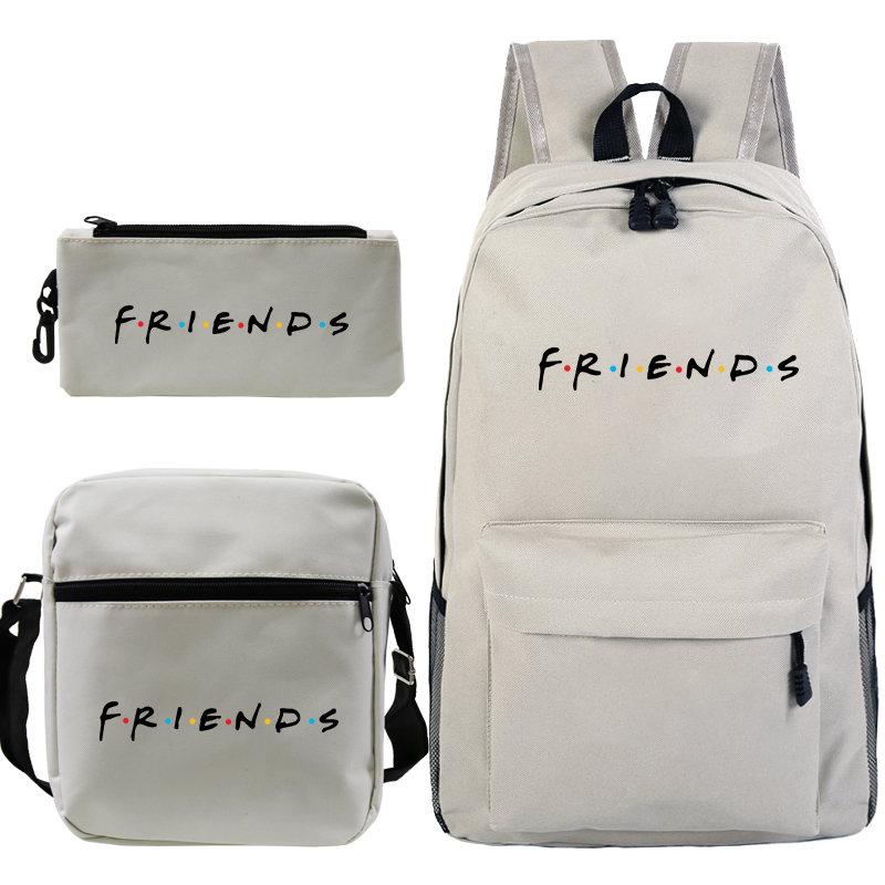 3 Pcs Set Friends Backpack Eevee Evolutions Umbreon Prints Backpack For Teenagers Girls Boys Travel Bagpack Children School Bags