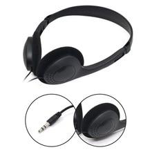 3.5mm com fio fone de ouvido estéreo com cancelamento de ruído microfone computador portátil fone de ouvido 2 interfaces