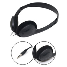 3.5mm kablolu Stereo kulaklık gürültü iptal kulaklık mikrofon bilgisayar dizüstü bilgisayar kulaklık 2 arayüzleri