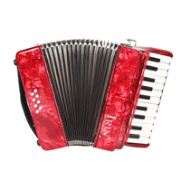 22 Key 8 Bass Piano Accordion with Straps Gloves Cleaning Cloth Educational Music Instrument for Students Beginners Childern