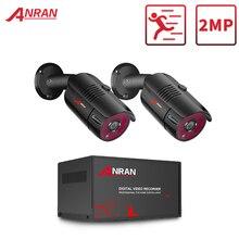 Anrun AHD DVR CCTV نظام الأمن 1080P الأشعة تحت الحمراء للرؤية الليلية كاميرا AHD نظام داخلي وخارجي 4CH DVR نظام مراقبة بالفيديو