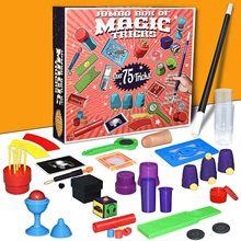 Engraçado júnior magia conjunto para crianças truques de magia brinquedos palco magia adereços conjunto grande caixa de presente adulto crianças brinquedo mágico presente magia adereços