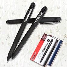 Черные ручки гелевые с чернилами 12 шт в упаковке удобная ручка