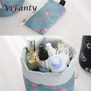 Image 2 - 旅行化粧品メイクアップバッグオーガナイザー男性女性トイレタリーバッグ大容量巾着化粧バッグブルー +