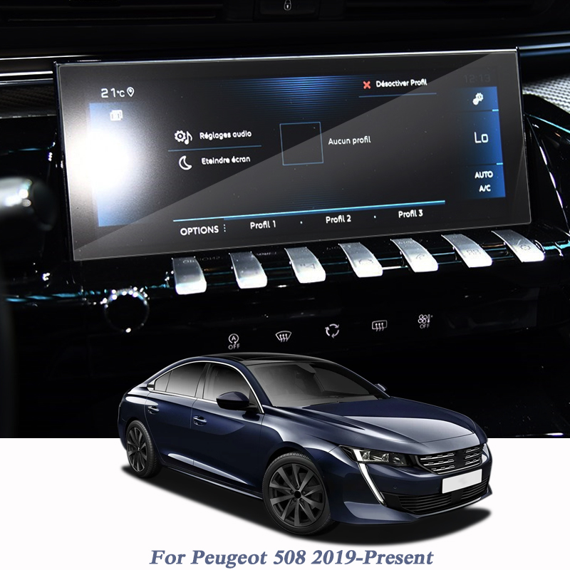 Car Styling For Peugeot 508 2019-Present GPS Navigation Screen Glass Protective Film Display Film Internal Car Accessories