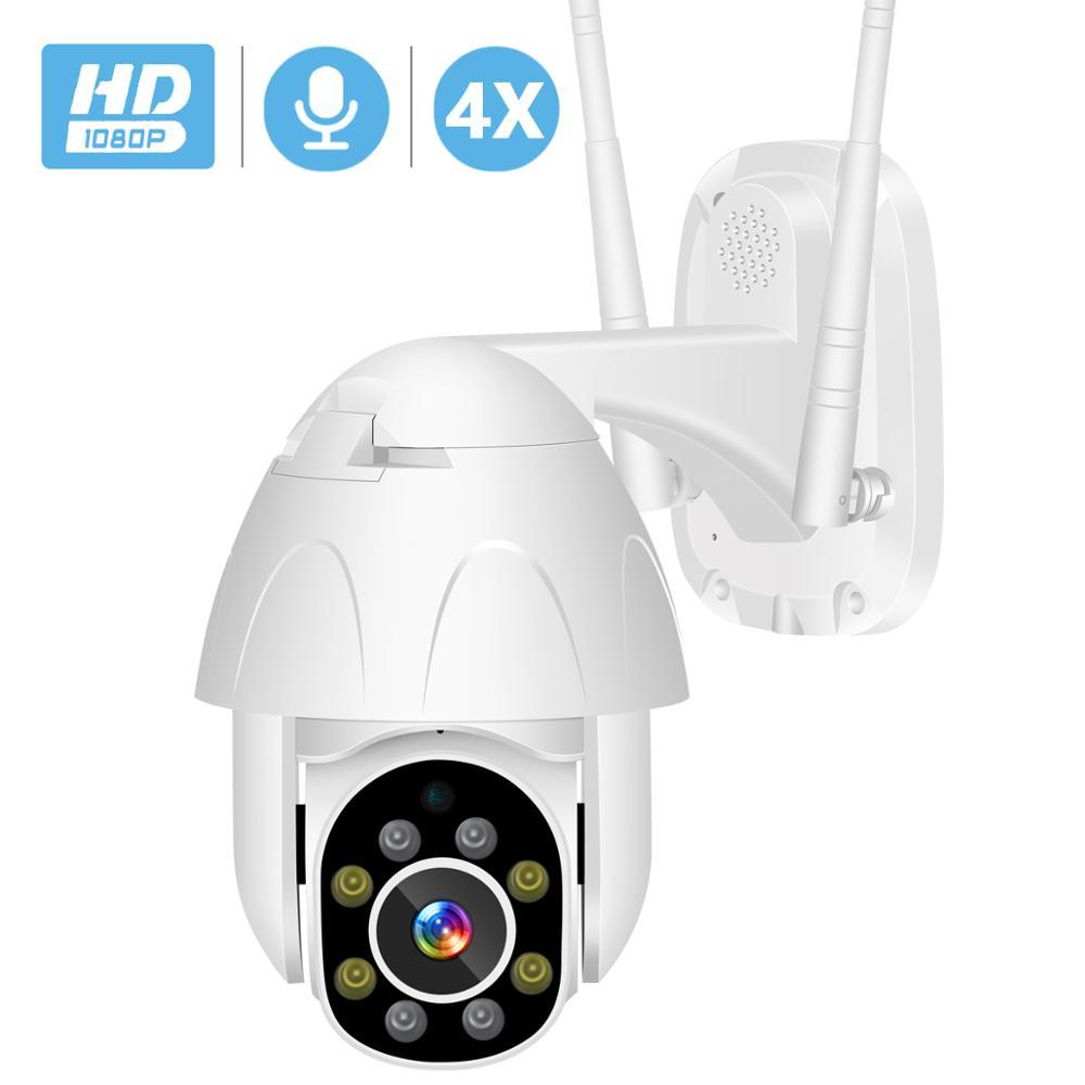 BESDER PTZ WiFi Camera 2MP Auto Tracking Waterproof CCTV Home Security IP Camera Cloud Storage 4X Digital Zoom Speed Dome Camera