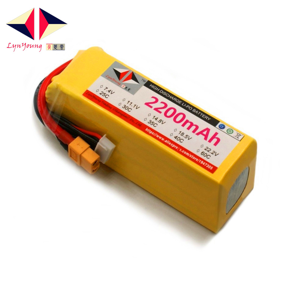 22.2V <font><b>2200mAh</b></font> 25C 30C 35C 40C 60C <font><b>6S</b></font> <font><b>Lipo</b></font> Battery For RC Boat Car Truck Drone Helicopter Quadcopter Airplane UAV image