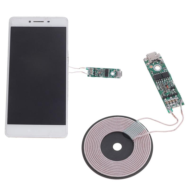 1 шт. Универсальное портативное беспроводное зарядное устройство 5 Вт Qi с быстрой зарядкой PCBA DIY стандартные аксессуары модуль передатчика к...