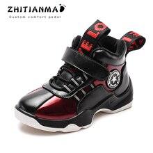 2019 Novo Outono Inverno Quente Sapatos de Alta Qualidade Crianças Botas de Neve Para Meninos Sapatos Infantis Confortáveis Botas Casuais 1812
