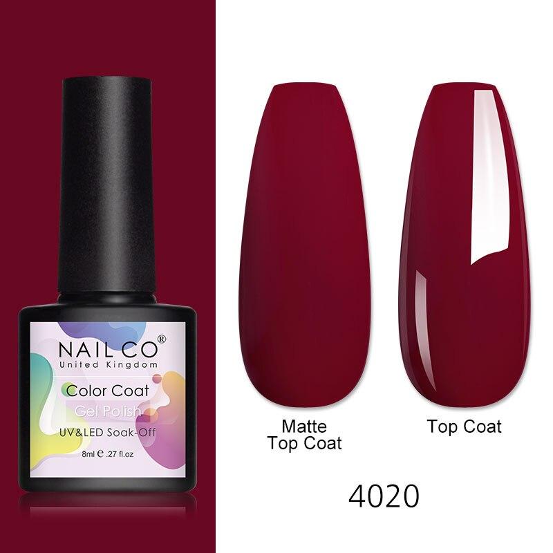 NAILCO 8 мл гели для ногтей Гель-лак! Полупостоянная гель Лаки база лаки для ногтей УФ-светодиодный Гель-лак для ногтей гибридные Лаки es