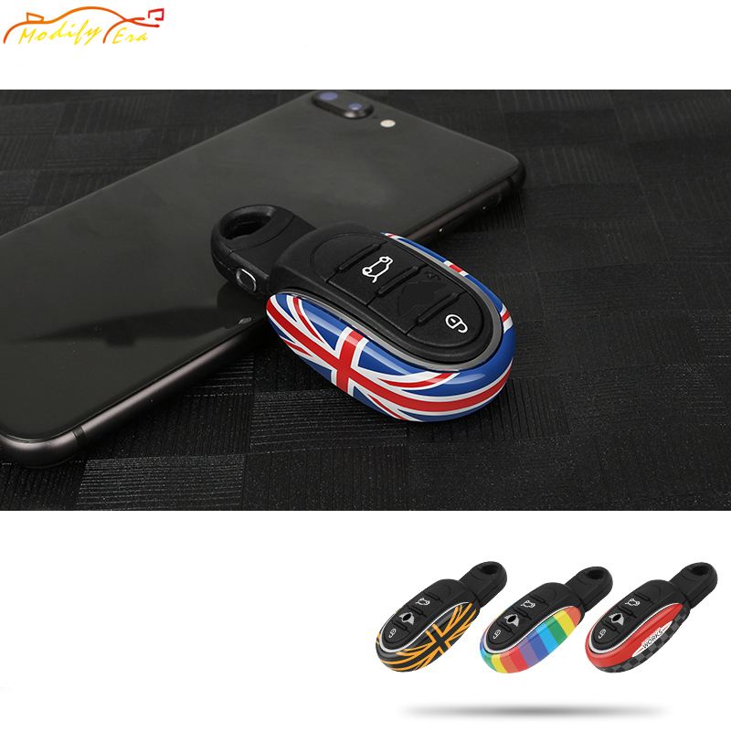 Car Styling Alloy Key Case Cover Chain Union Jack For BMW Mini Cooper JCW F54 F55 F56 F57 F60 Clubman Countryman Car Accessories