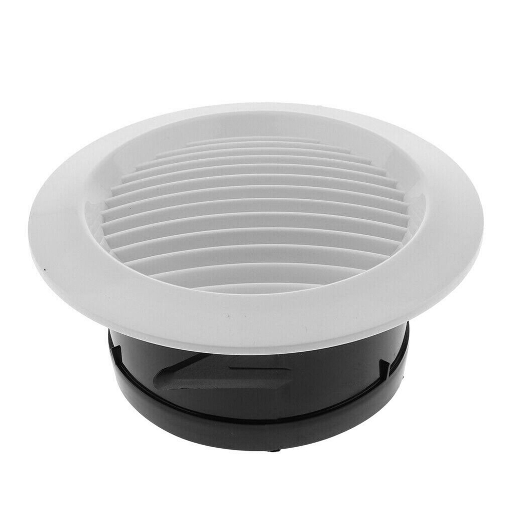Air Vent Grille Circular Indoor Ventilation Outlet Duct Pipe Cover Cap DTT88