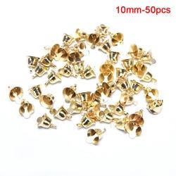 10pcs 10-50mm Jingle Bells Gold Pet Hanging Metal Bell Wedding Christmas Decoration Accessories Bells For Crafts