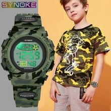 Synoke спортивные военные детские цифровые часы студенческие