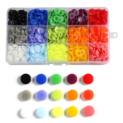 600/1440pcs T5 Snap Poppers Plastic Nylon Buttons for Baby Clothes Bibs Raincoats DIY Sewing Accessories 15/24 Colors Buttons