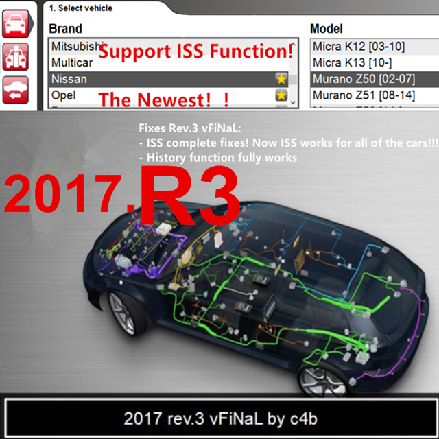 2017 R3 VERSION vd ds150e   with ISS FUCTION with cd dvd support 2017 models cars trucks new vci  obd2 obdii for delphis