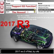 2017 R3 VERSION vd mit ISS FUCTION mit cd dvd unterstützung 2017 modelle autos lkw neue vci obd2 obdii für delphis
