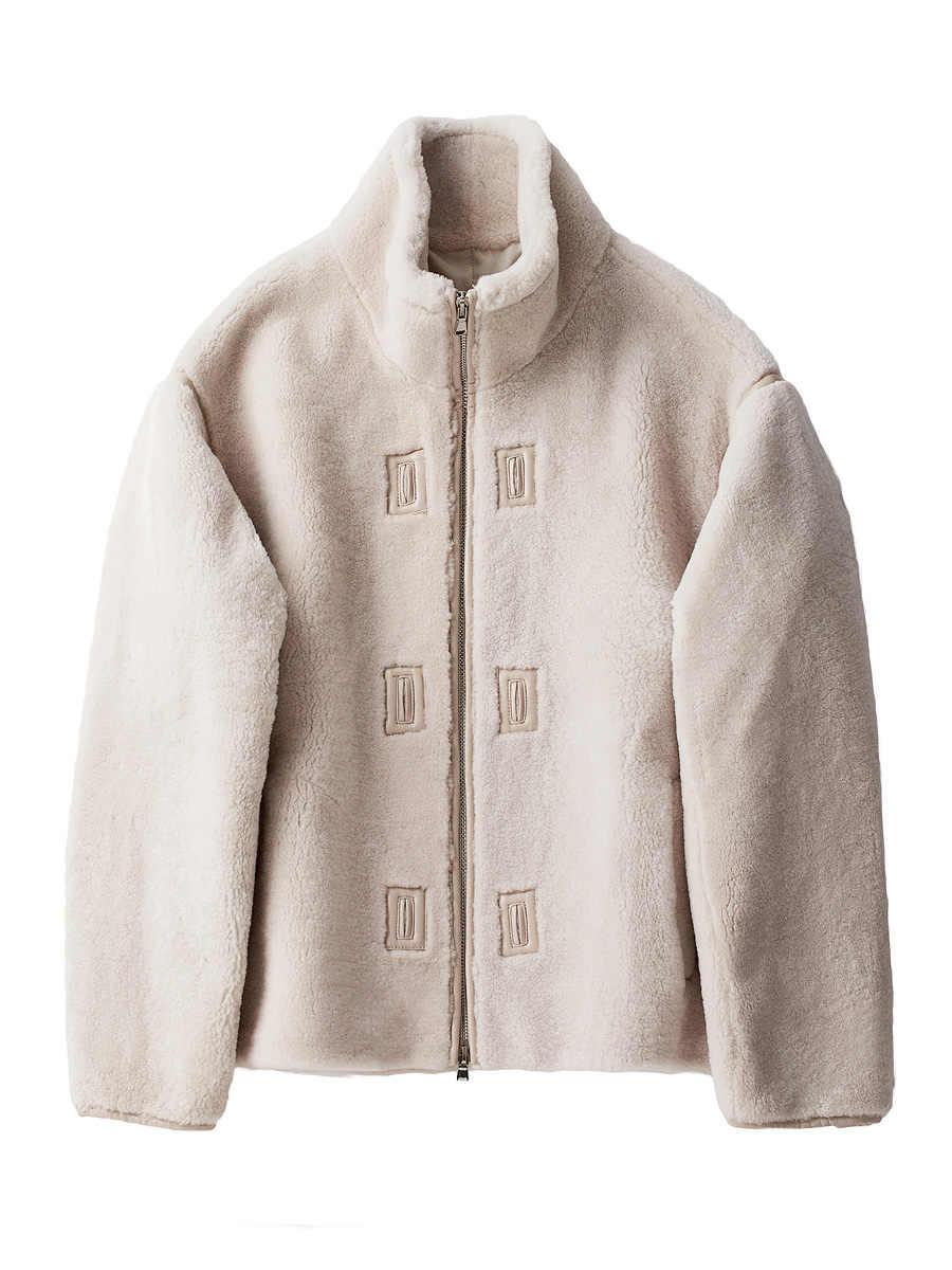 コート 2020 新リアル羊ムートン男性天然メリノウールの毛皮ショート秋冬レザージャケット 22025 KJ4426
