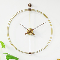 Nomon Modern Design Wall Clock Europe Brief Large Watch Home Decor for Living Room 3D Wall Sticker Copper Mechanism