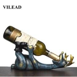 VILEAD 14 センチメートル樹脂ヘラジカワインボトルホルダー置物ヨーロッパクリエイティブ横たわっ鹿飾り動物ワインラッククラフト装飾オガル