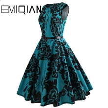 Модное женское платье без рукавов с цветочным принтом для банкета, простое платье длиной до колена с цветочным принтом для выпускного вечера