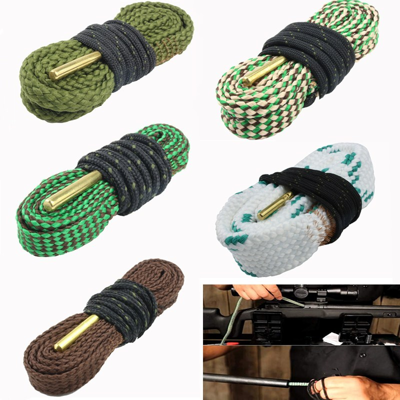 Urządzenia do oczyszczania myśliwskiego Bore Cleaner Snake.22 Cal.38 Cal.30Cal i 5.56mm, 9mm, 12GA zestaw do czyszczenia karabinu karabin lufa kaliber wąż liny