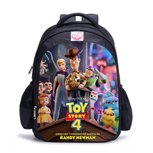 Fashion Boys Girls Backpack Cartoon Toy Story 4 Forky Woody