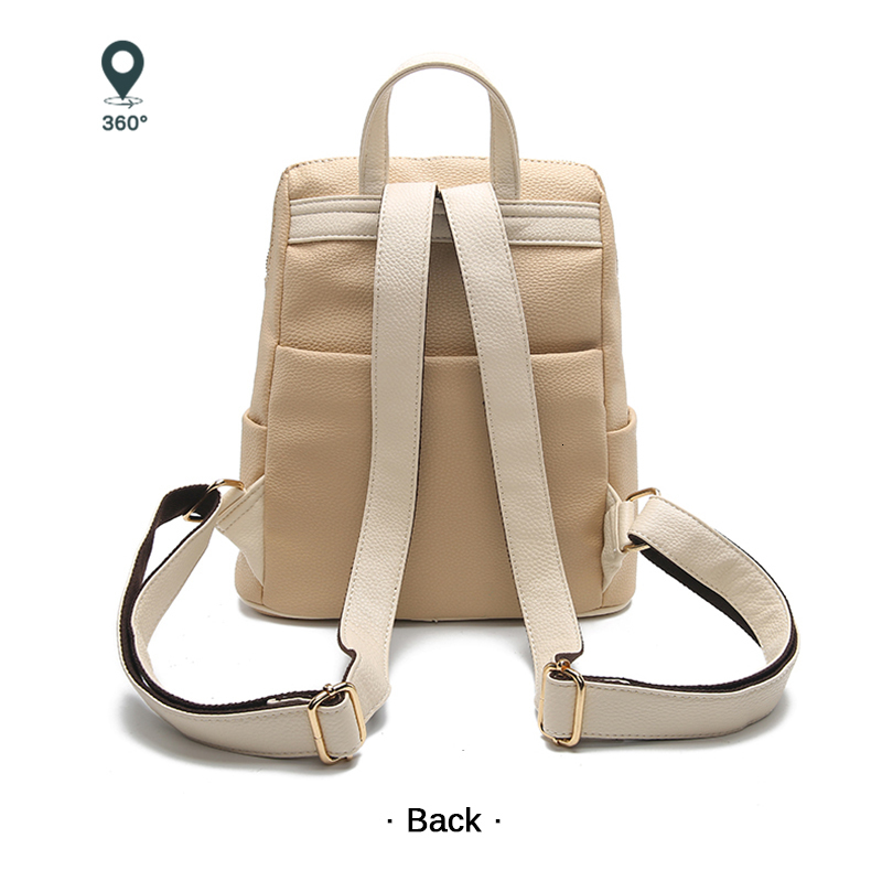 Haa533818694b4647a89e59ba1b18ab08t Women Backpack for School Style Leather Bag For College Simple Design Women Casual Daypacks mochila Female Famous Brands168-325
