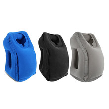 Neck Pillow Portable Compact Outdoor Travel Car Trips Office Train Airplane Camping Resting Tools Inflatable Sleeping Pillowfor(China)
