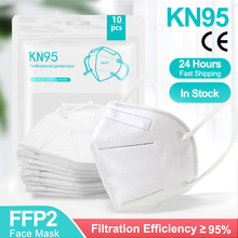 5-200 Pieces KN95 Mask CE FFP2 Facial Masks 5 Layers Filter Protective Health Care FFP2Mask 95% Respirator Mouth Mascarillas