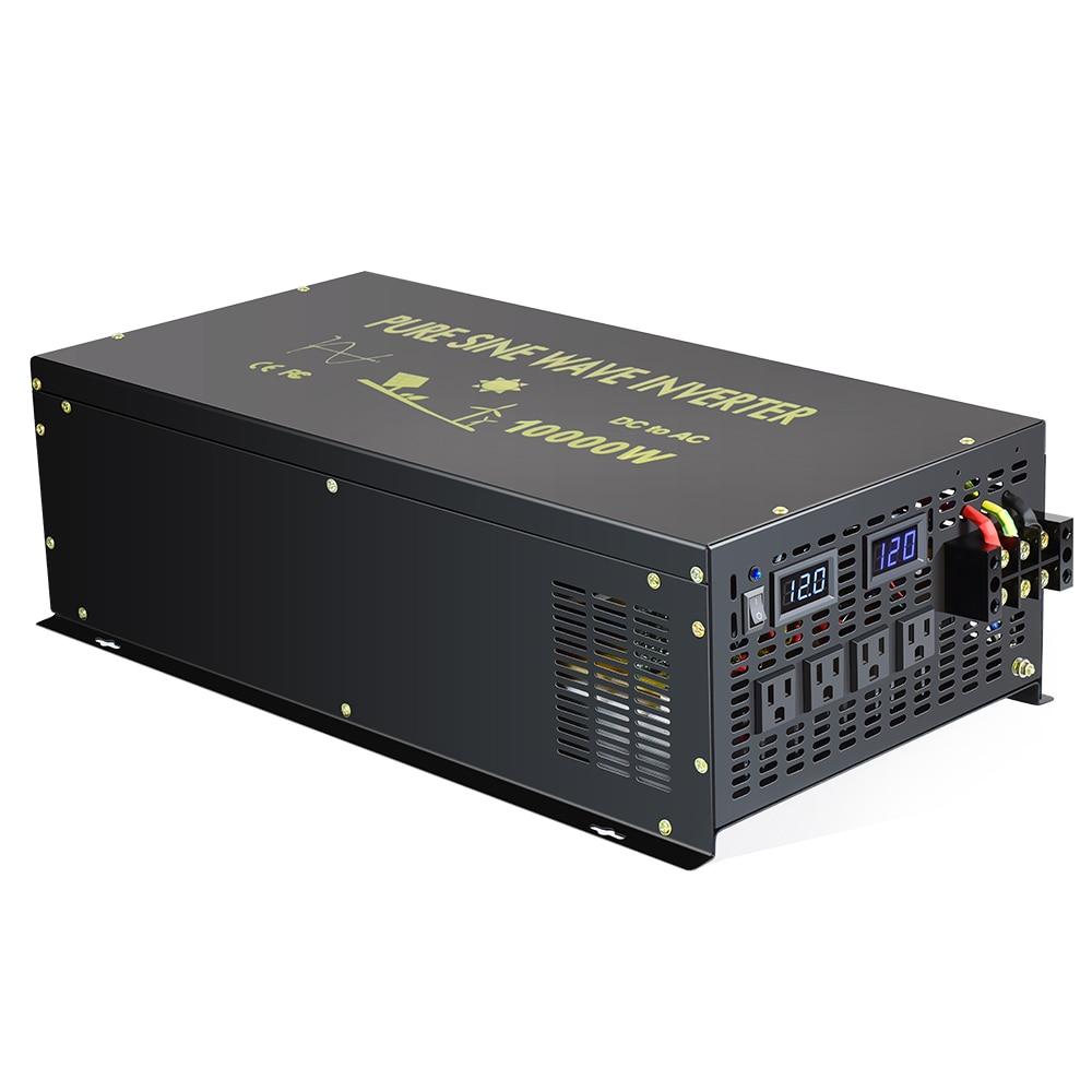 10000W hors réseau onduleur à onde sinusoïdale Pure onduleur 24V à 220V onduleur solaire 12 V/24 V/48 V DC à 120 V/220 V/240 V AC convertisseur