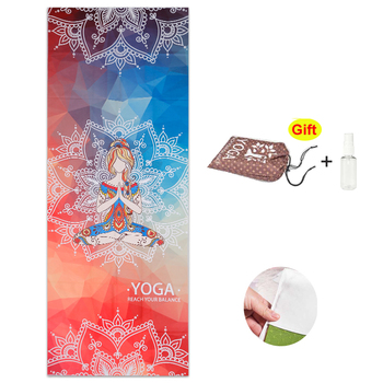 183*65 CM Printed Yoga Towel Microfiber Non Slip Yoga Blanket Absorb Sweat Yoga Mat Cover Towel Pilates Fitness Beach Mat Towel france flag printed beach towel outdoor bath towel yoga mat microfiber fabric beach towel for adults