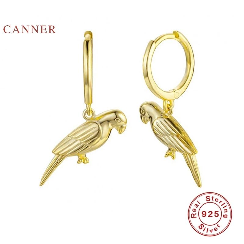 CANNER IINS Wind Animal Pigeon Earrings Hoops 925 Sterling Silver Earrings For...