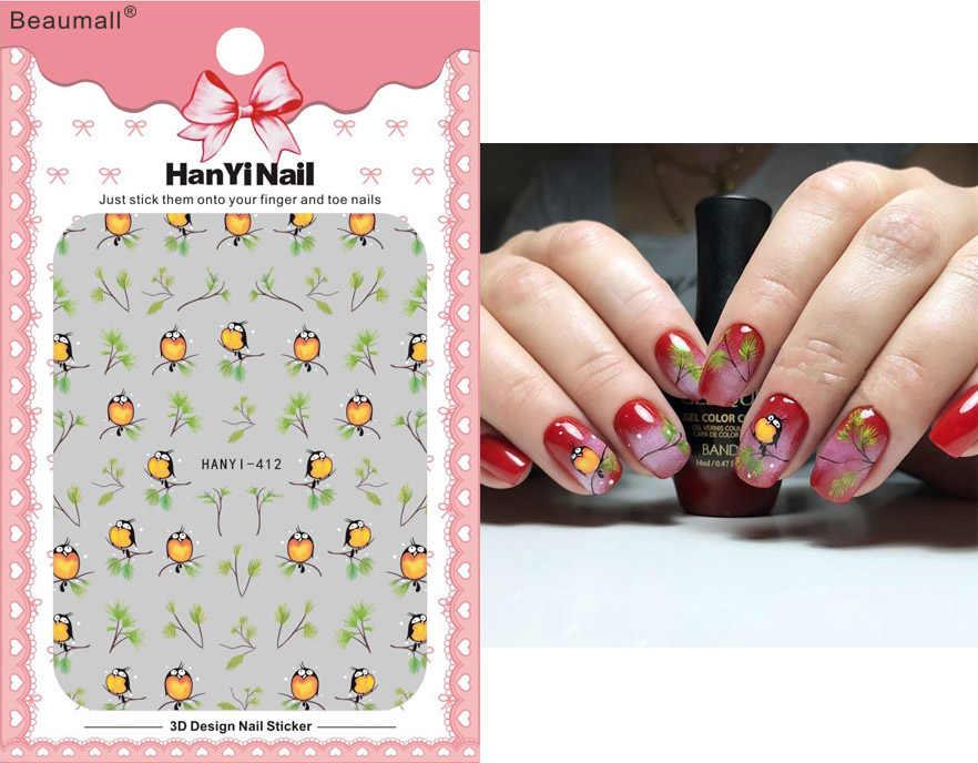 Cartoons Nails Art Manicure Terug Lijm Decal Decoraties Ontwerp Nail Sticker Voor Nagels Tips Beauty